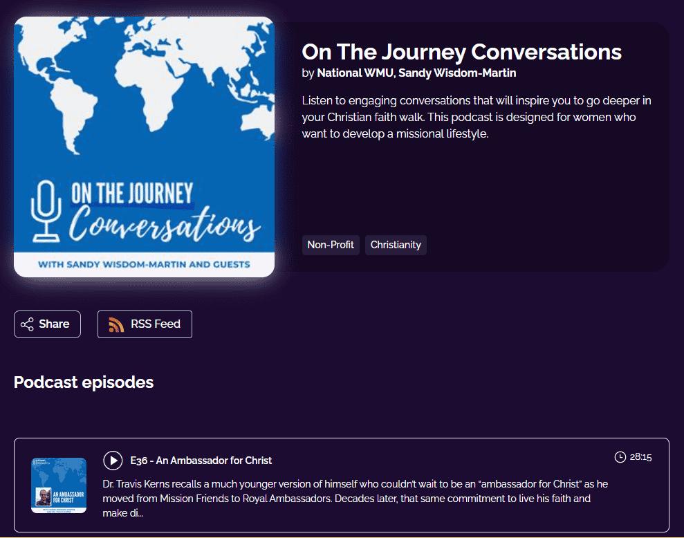 On The Journey Conversations by National WMU, Sandy Wisdom-Martin
