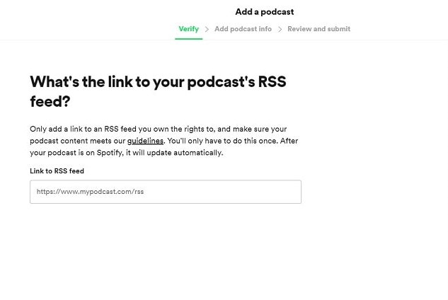 how to add a podcast to Spotify