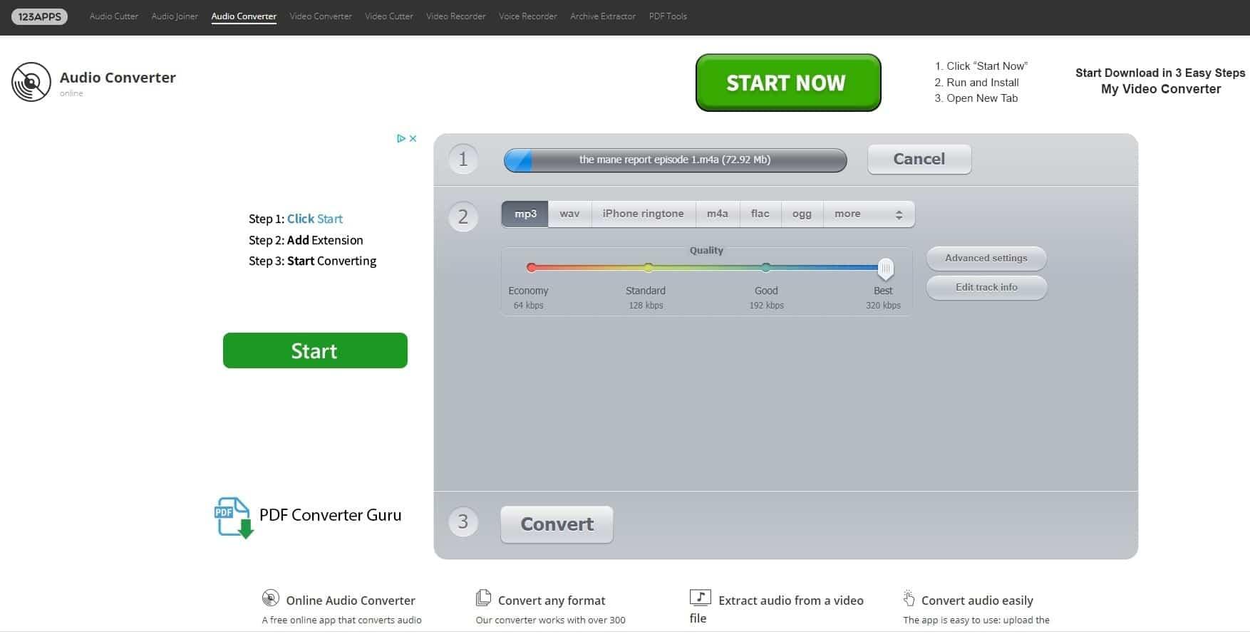 Audio File Generation Software Select File