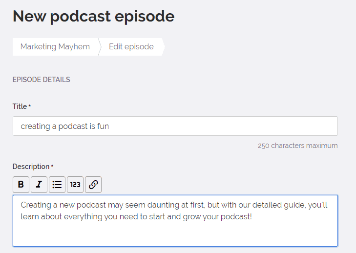 how to name your podcast episodes