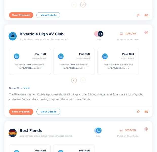 sponsorship examples on podcorn