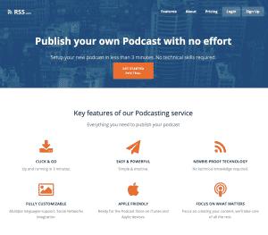 1st Version of RSS.com Podcasting Circa 2017