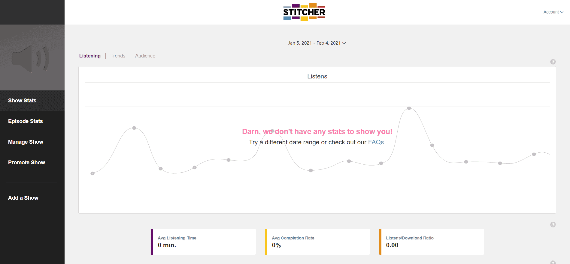 Stitcher Podcast Stats