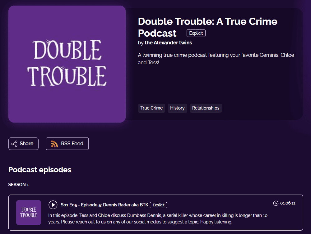 Double Trouble: A True Crime Podcast