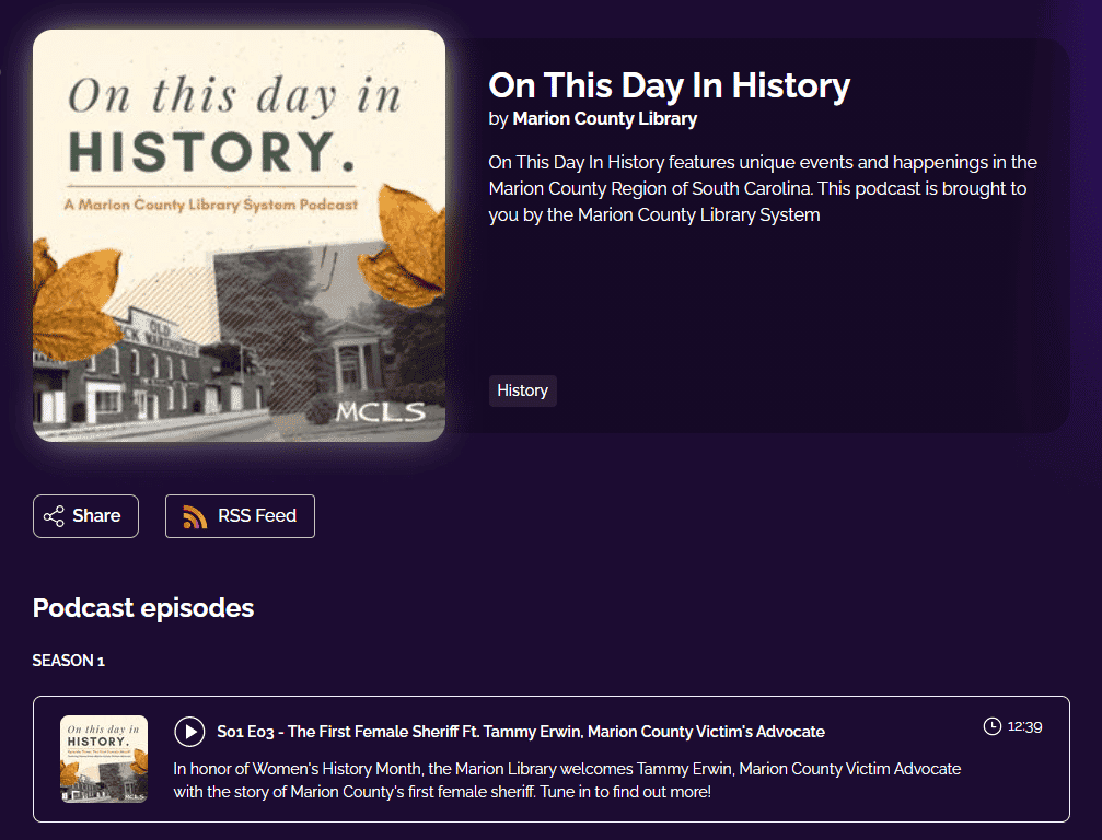 On This Day In History by Marion County Library