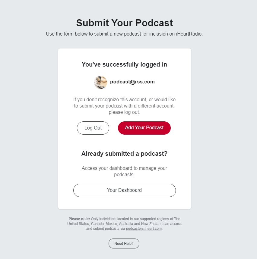 add a podcast to iheartradio